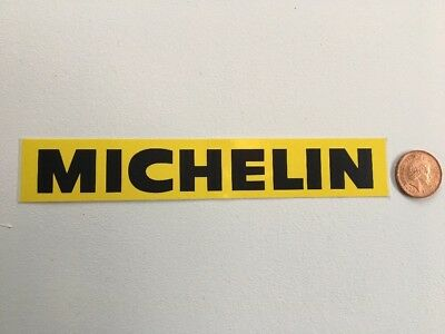 Vintage Yellow Michelin Sticker Decal - New Old Stock