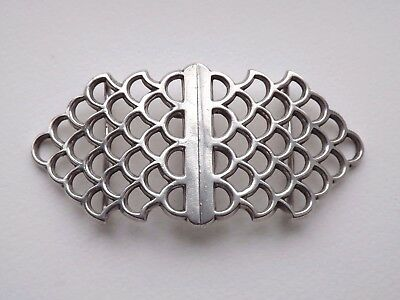 Antique Edwardian 'Fish Scale' Sterling Silver Nurses Buckle - London 1905 - 64g