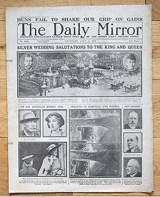Ww1 Daily Mirror July 6 1918 Silver Wedding  / Rawlinson Divorce / Zeebrugge