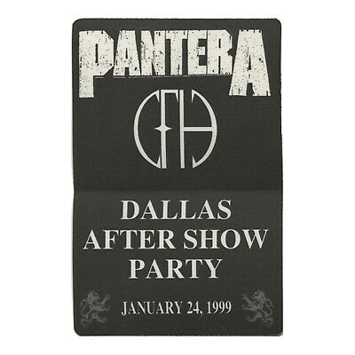 Pantera Authentic 1999 Dallas After Show Party satin Backstage Pass