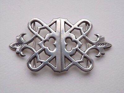 Antique Victorian Gothic Style Sterling Silver Nurses Buckle - London 1899 - 45g
