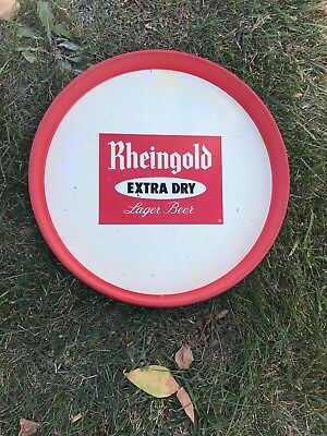 Vintage BEER TRAY Rheingold extra dry