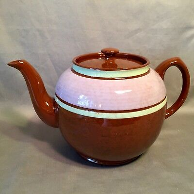 SADLER Staffordshire England 'Brown Betty' EIGHT CUP TEAPOT