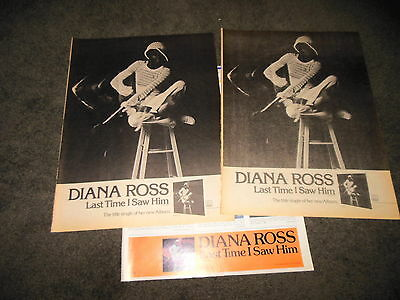 DIANA ROSS Last Time I Saw Him 11x14 Promo BILLBOARD Ad Posters