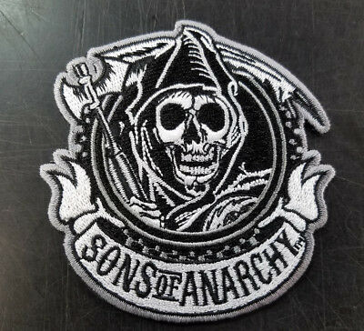 Sons Of Anarchy Reaper Embroidered Patch New !