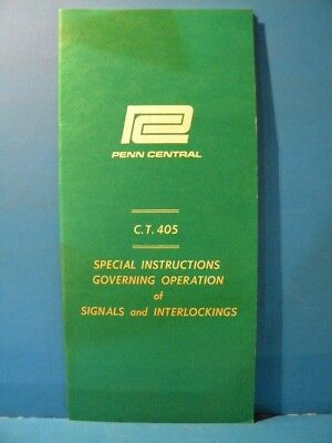 Penn Central Employee Special Instructions Governing Operation Signals Interlock