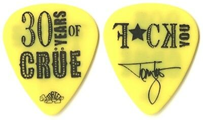 Motley Crue Tommy Lee 2011 tour 30 Years of Crue - F*CK YOU yellow Guitar Pick