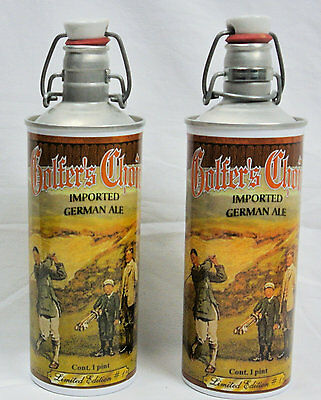 2-Golfer's Choice Beer Cans German Ale Swing Top Pint Bottle Limited Edition #1