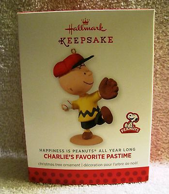 New - 2014 - Charlie Brown - Peanuts - Charlie's Favorite Pastime - Ornament
