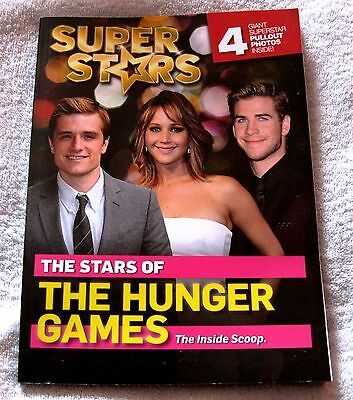 Rare- Super Stars - The Stars Of The Hunger Games - Collector's Book - 4 Posters