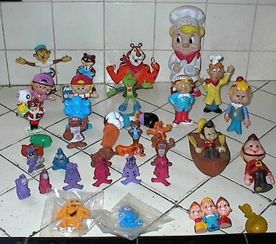 35 Different CEREAL PREMIUMS, MASCOTS, DOLLS, FIGURES, TOYS, Kelloggs, Ralston
