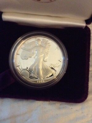 1986-S Proof American Silver eagle with Box and COA   Org. Box Of (4)