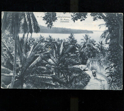 Oracabessa St Mary Jamaica Postcard 1911 Sent to Paris France