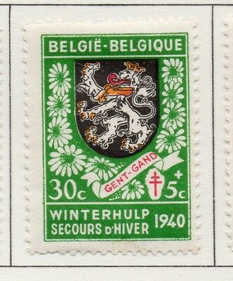 Belgium 1941 Early Issue Fine Mint Hinged 30c. 173949