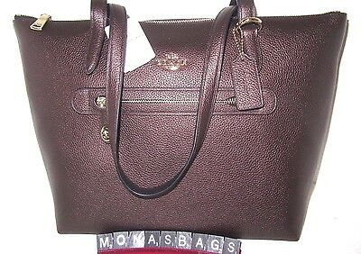 Coach Authentic New 38312 Taylor Tote Bag Bronze Pebble Leather NWT $275