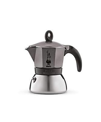 Bialetti Moka Induction, Caffettiera 3 Tazze, Antracite (O6f)