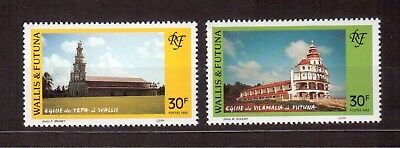 Wallis & Futuna Islands 1993 Vf Nh # 449/50, Churches !!