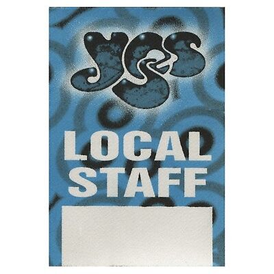Yes authentic 1997 Open Up Your Eyes tour satin Backstage Pass band local staff