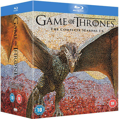 Game of Thrones: The Complete Seasons 1-6 BOXSET (Blu-ray Disc, 2016)