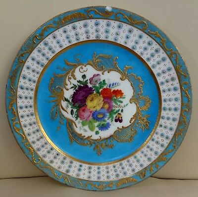 Stunning Sevres Porcelain Plate with Hand Painted Fruit - Possibly 18th Century