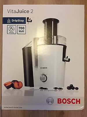 Bosch MES25A0GB 700W Whole Fruit Juicer in White, 2 Speed, 1.2L Jug New, Sealed