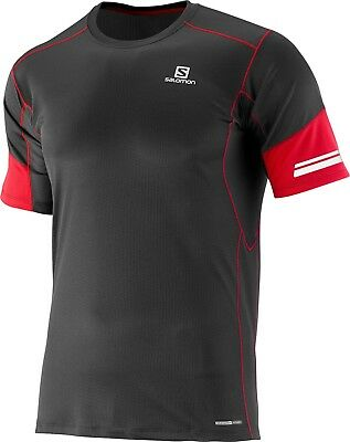 SALOMON AGILE Short Sleeve  RUNNING TEE MEN'S (black color) LARGE SIZE