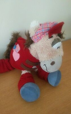 Peluche Diddl Cheval Galupy Selle, chapeau, bas rouge  35 cm Depesche