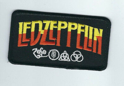 Led Zeppelin Logo Yellow And Orange Embroidered Patch !