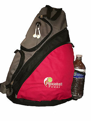 """PICKLEBALL MARKETPLACE """"Urban Sport"""" Sling Backpack - New/Embroidered - Red"""