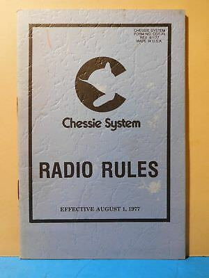 Chessie System Radio Rules 1977 Aug 1 soft cover
