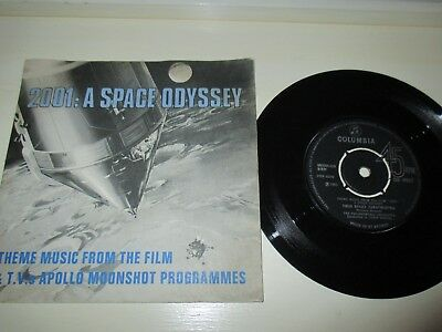 2001 A Space Odyssey Film Theme And Tv Apollo Moonshot Single In Picture Sleeve
