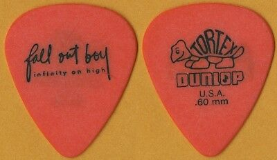 Fall Out Boy Patrick Stump authentic 2007 Infinity on High tour Guitar Pick