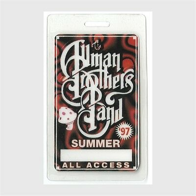 Allman Brothers authentic 1997 concert tour Laminated Backstage Pass ALL ACCESS