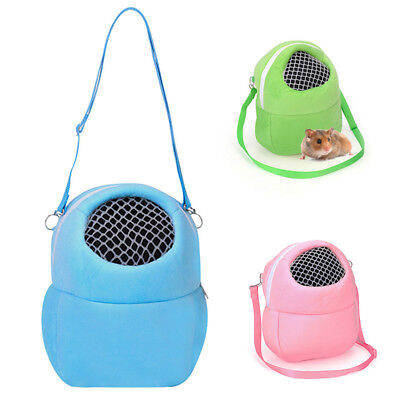 Hot Small Animal Carrier Cute Pet Hamster Chinchilla Travel Sling Bag With Mesh