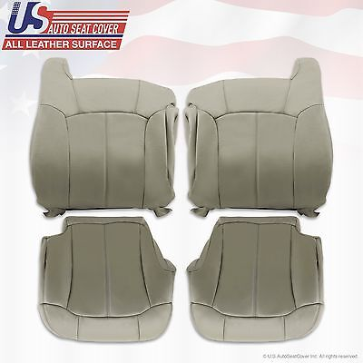 1999 2000 2001 2002 Chevy Tahoe Suburban Upholstery leather seat cover Gray ligh