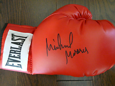 Michael Moorer signed boxing glove with COA