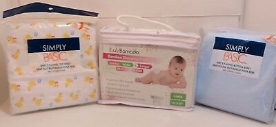 iLuv Bamboo Changing Pad Liner 3 Pack Simply Basic Flannel Baby Sheets New