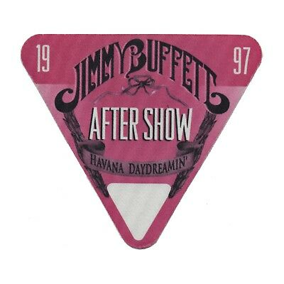 Jimmy Buffett authentic Aftershow 1997 tour Backstage Pass