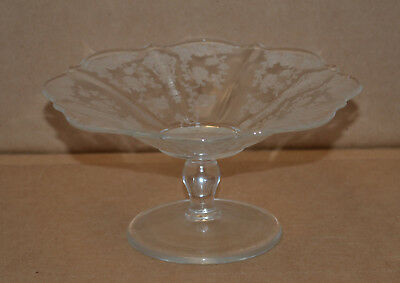 Small Vintage Cambridge Rose Point Compote / Candy Dish