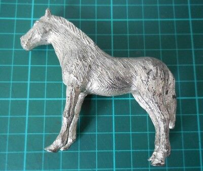 Small Cast Iron Silver effect Horse Figurine