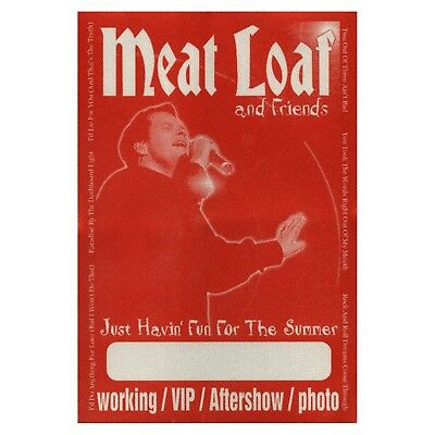 Meat Loaf authentic 2002 Just Havin Fun Summer tour Satin Backstage Pass VIP