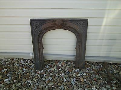 Antique Victorian Ornate Fireplace Header