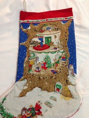 "Large 29"" Christmas Stocking Mice Mouse Tree"