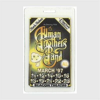 Allman Brothers authentic 1997 concert Laminated Backstage Pass March Madness
