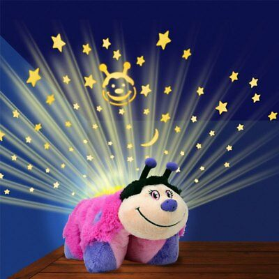 As Seen on TV Pillow Pets Dream Lites - Hot Pink Lady Bug -Night Lite New in Box