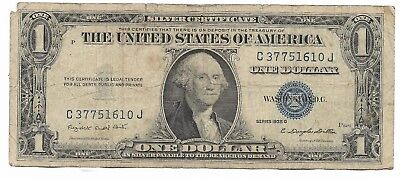 Old Rare Antique US Blue Seal Silver Dollar Bill Certificate Collection Note D1