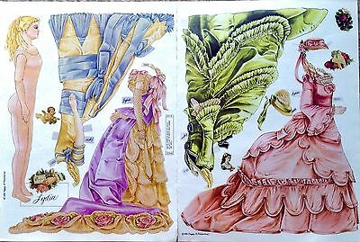 Lydia, Antique Doll of 1880 Paper Doll, Peggy Jo Rosamond Artist, Mag. PD. 1989