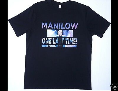 BARRY MANILOW One Last Time Size XL Black T-Shirt