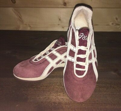 ASICS New Vintage 80s Classic Burgundy Suede Shoes Womens - Size 6