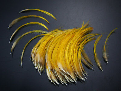Golden Pheasant Crest Feathers Natural Fly tying ;3 to 5cm 100 pcs,C20103